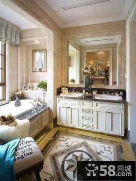 欧式风格别墅卫生间装修效果图欣赏