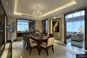 现代欧式风格室内餐厅吊顶设计图片