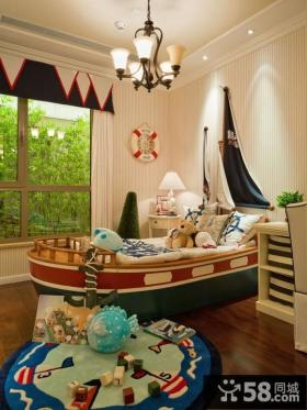 地中海风格儿童房卧室效果图