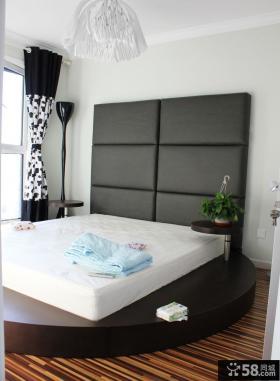 主卧室床头软包背景墙装饰设计图