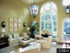 美式田园风格装修客厅图片