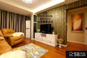 现代电视背景墙壁纸效果图大全