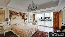 欧式主卧室窗帘图片