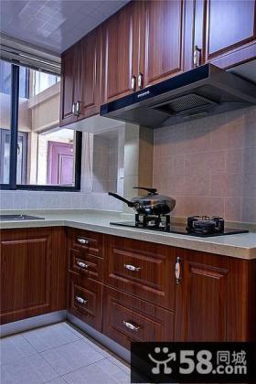 古典美式实木厨房装潢图