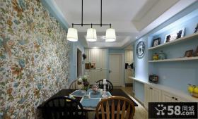 田园风格家装餐厅设计效果图片