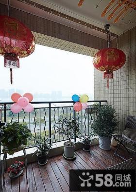 家庭阳台装饰效果图案例