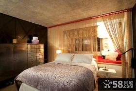北欧设计室内卧室飘窗图片