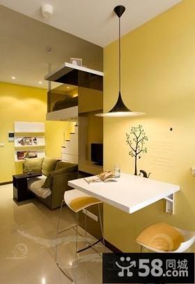 现代风格小复式餐厅装修效果图大全2012图片