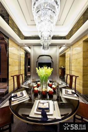 现代中式别墅室内装修样板间效果图