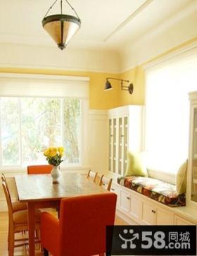 美式风格餐厅飘窗设计