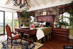 别墅美式乡村风格样板间卧室效果图