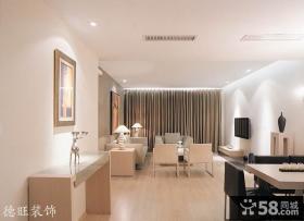 小户型客厅餐厅一体装修设计效果图