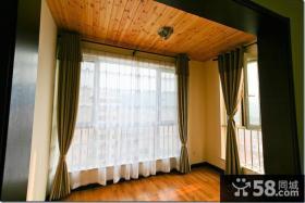 室内阳台生态木吊顶效果图