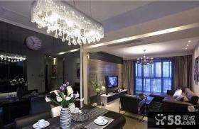 现代家居室内餐厅客厅吊顶图片欣赏2014
