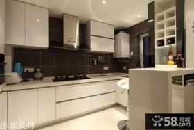 现代简约整体厨房装修效果图片