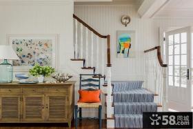 简约美式实木楼梯设计装潢