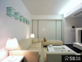 简约风格两室一厅装修客厅效果图