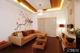 客厅简单装修效果图 小客厅吊顶效果图