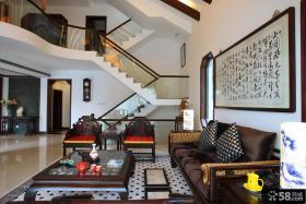 中式风格复式家庭设计图片大全欣赏