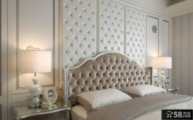新古典欧式卧室床头软包背景墙图片
