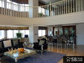 别墅挑高客厅装修效果图片