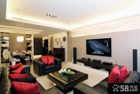现代风格电视背景墙装饰效果图片
