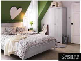 欧式小户型阁楼卧室装修效果图 女生卧室装修图片
