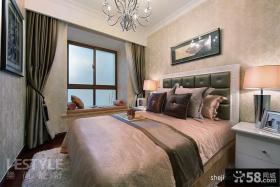 欧式风格主卧室飘窗装饰效果图