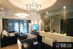 后现代设计客厅电视背景墙