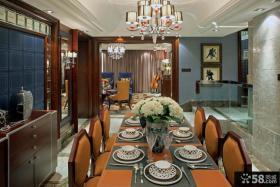 欧式别墅室内装修餐厅吊顶效果图