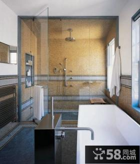 清新美式风格装修效果图卫生间图片