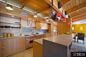 美式风格别墅图片大全 自建别墅开放式厨房设计