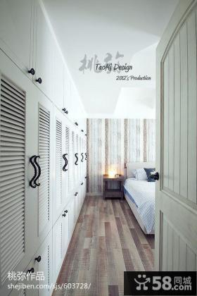 卧室整体衣柜设计图片