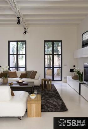 大户型客厅沙发地毯效果图