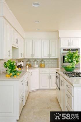 小清新欧式风格厨房橱柜效果图