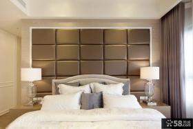 北欧设计卧室床头软包背景墙图片