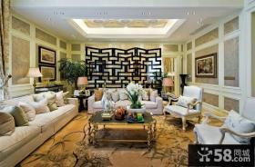 新古典风格别墅客厅高档装修图片