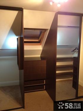 实木家装组合衣柜图片