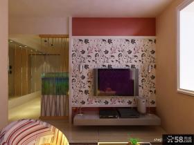 现代客厅电视背景墙壁纸