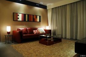 现代风格客厅沙发背景墙装修效果图