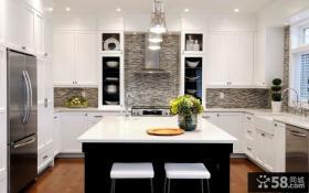 欧式小户型开放式厨房装修效果图