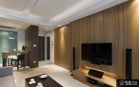 日式客厅电视背景墙装修图片欣赏