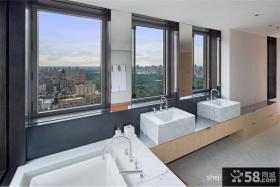 现代简约复式楼装修效果图 复式楼卫生间装修样板间