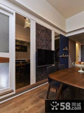 现代装饰设计餐厅电视背景墙图