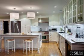 简约开放式厨房吧台装修设计图片
