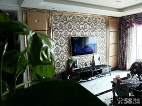 欧式新古典风格客厅电视背景墙装修效果图欣赏