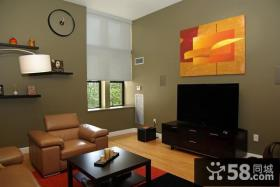 现代风格小户型客厅电视背景墙效果图片