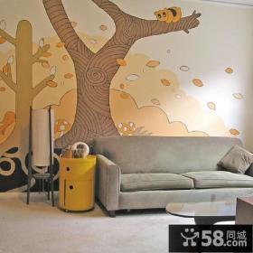 客厅沙发背景墙绘