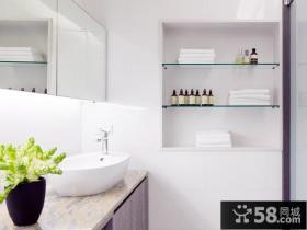 淡雅宜人的小户型卫生间装修效果图大全2014图片