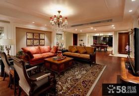 美式风格两室两厅装修样板间